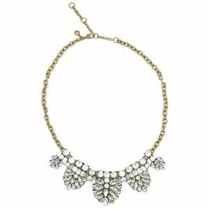 J. Crew Statement Bib Sparkly Necklace Brass Gold